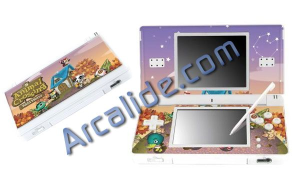 skin pour ds lite nintendo animal crossing arcalide. Black Bedroom Furniture Sets. Home Design Ideas