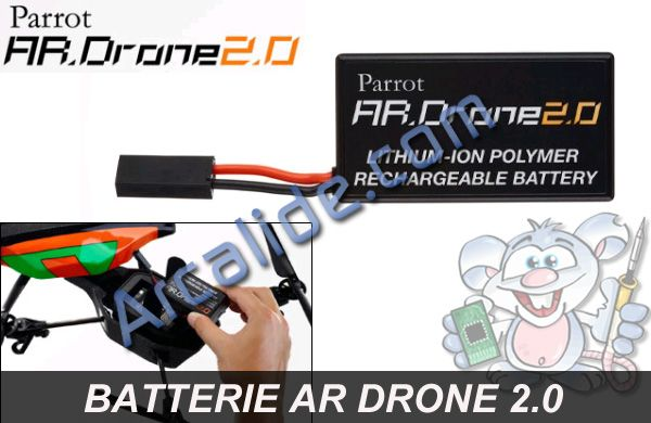 acheter batterie parrot ar drone 2 0 en france rennes arcalide. Black Bedroom Furniture Sets. Home Design Ideas