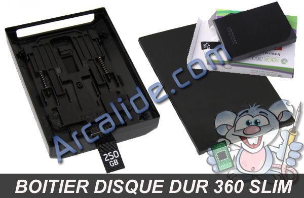 boitier disque dur xbox 360 slim arcalide. Black Bedroom Furniture Sets. Home Design Ideas