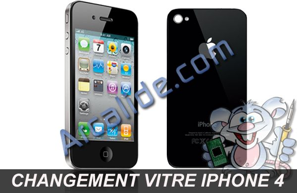 r paration vitre arri re iphone 4 changement vitre arri re iphone 4 rennes. Black Bedroom Furniture Sets. Home Design Ideas