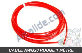 cable awg20 rouge 1m