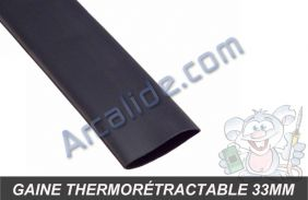 gaine thermo 33mm noir