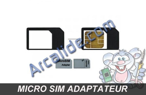 micro sim adaptateur iphone 4 et ipad arcalide. Black Bedroom Furniture Sets. Home Design Ideas