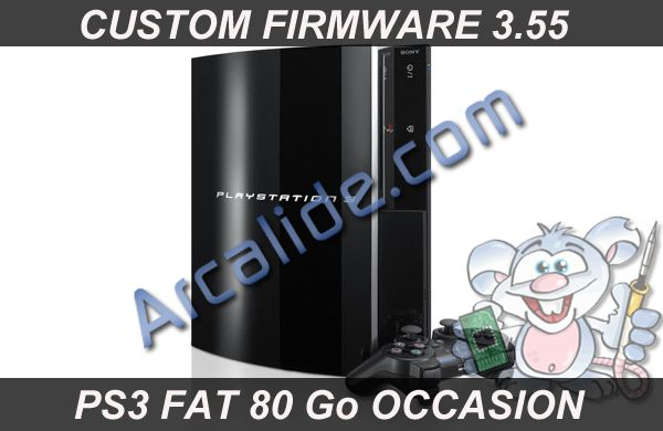 console ps3 fat 80 go custom firmware occasion. Black Bedroom Furniture Sets. Home Design Ideas