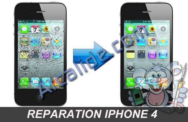 r paration cran iphone 4 changement vitre tactile iphone 4 rennes. Black Bedroom Furniture Sets. Home Design Ideas
