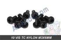 10 vis tc nylon m3x6