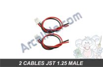 2 cables jst 1.25 male