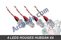 leds rouges x4 h107