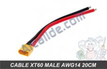 cable xt60 male awg14