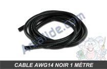 cable awg14 noir 1m