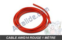 cable awg14 rouge 1m