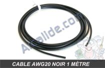 cable awg20 noir 1m