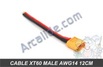 cable xt60 male 12cm