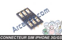 connecteur sim iphone 3
