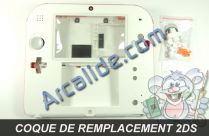 coque blanc rouge 2ds