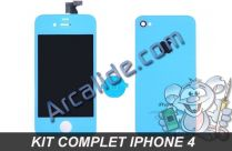 ecran iphone 4 bleu