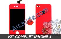 ecran iphone 4 rouge