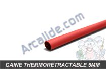 gaine thermo 5mm rouge