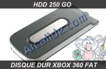 hdd xbox 360 fat 250 go