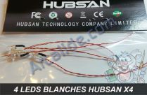 leds blanches x4 h107