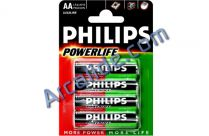4 piles philips r6 aaa
