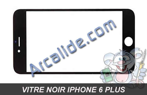 vitre avant noir iphone 6 plus arcalide pi ces d tach es iphone rennes. Black Bedroom Furniture Sets. Home Design Ideas
