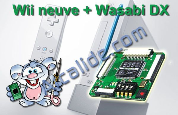 consoles wii neuve avec puce wasabi dx arcalide. Black Bedroom Furniture Sets. Home Design Ideas